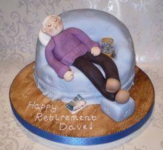 Comfy Sofa Retirement Cake cakepins.com