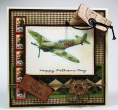 Amazing Father's Day card using A Proper Gentleman by Pat33 #graphic45 #cards