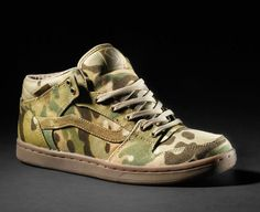 Vans Syndicate Sneakers in Crye Precision MultiCam pattern camouflage