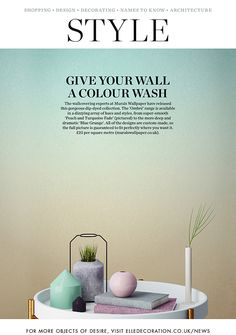 One of our highlights of 2017, our ombre wallpaper featuring in the Elle Decor magazine.