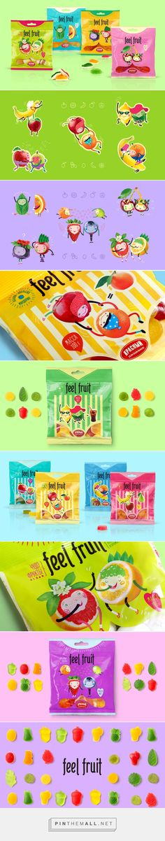 FeelFruit — мармелад от Fabula Branding who wouldn't be happy with this fun candy packaging curated by Packaging Diva PD