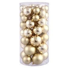 Ball Christmas Ornament Set (Set of 50)