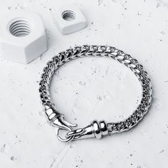 """vitalydesignOur stainless steel Kusari bracelet is the perfect piece to stack on with a watch // $50 // vitalydesign.com view all 25 comments imabiznezmanCan you make a necklace this same style and width at 28-30"""" long? zoma_f15@ahm__sa therealjuggydThat's very nice I'd also buy a necklace in that design if you do it ? #vitaly #fashion #silver"""