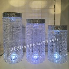 Items similar to Chandelier Centerpieces with Mirrored Top Set) on Etsy Chandelier Centerpiece, Table Centerpieces, Bling Wedding, Wedding Stuff, Wedding Ideas, Christmas Presents For Boyfriend, Quince Themes, Denim And Diamonds, Entertainment Table
