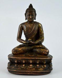 17thC or Earlier Tibet Gilt Bronze Medicine Buddha Lot 94 EST Price: USD 6,000 - 9,000 Start Price: USD 3,000 Tibet, The Collector, Buddha, Jade, Auction, Medicine, Medical Technology