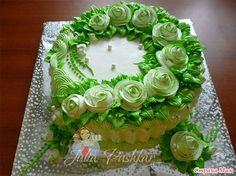 Мои торты на эти выходные. Beautiful Desserts, Beautiful Cakes, Buttercream Cake Designs, Cake Basket, Pastry Design, Japanese Cake, Candy Drinks, Cool Cake Designs, Green Cake