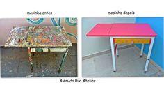 Restauração e reciclagem de uma mesa antiga, com passo a passo !!! by ALÉM DA RUA ATELIER/Veronica Kraemer, via Flickr