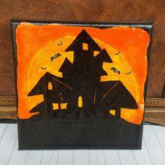 Spukhaus Leinwand Halloweendekoration
