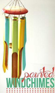 Homemade Ocean - Painted Wooden Windchimes