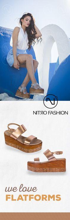 #handmade #leather #flatforms #madeingreece #nitrofashion Handmade Leather, Birkenstock, Sandals, Summer, How To Make, Fashion, Moda, Shoes Sandals, Summer Time