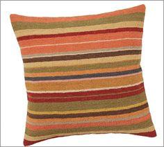 Kashan Dhurrie Stripe & Kilim Pillow Covers