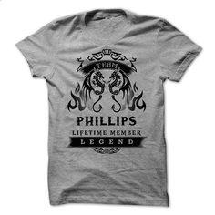 TEAM  PHILLIPS LIFE TIME MEMBER LEGEND 2015 DESIGN - #shirt #cropped hoodie. BUY NOW => https://www.sunfrog.com/Pets/TEAM-PHILLIPS-LIFE-TIME-MEMBER-LEGEND-2015-DESIGN.html?68278