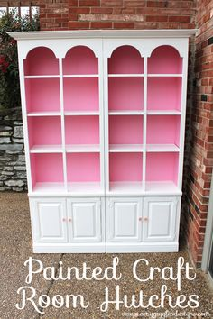 My hutch isn't like this but it has a big back that would look awesome colored a bright color