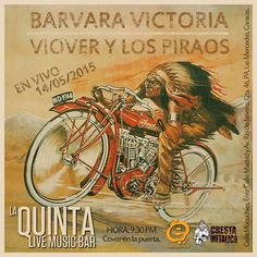 """Cresta Metálica Producciones » La Quinta Bar presenta: """"INVASIÓN FUNK con Viover y Los Piraos & Barvara Victoria """" (Caracas) // 14 Mayo 2015"""