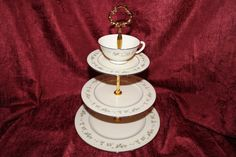 Lenox Brookdale  Tiered Stand Tea Party Plate  by TeaAtTheBrits
