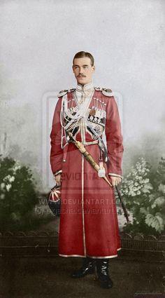 Grand Duke Michael Alexandrovich Romanov in cossack uniform