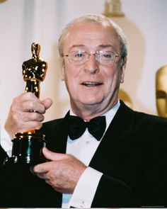"""2/08/2014 11:49pm  The Academy Awards Ceremony 2000: Michael Caine Best Supporting Actor Oscar for """"Cider House Rules""""  1999."""