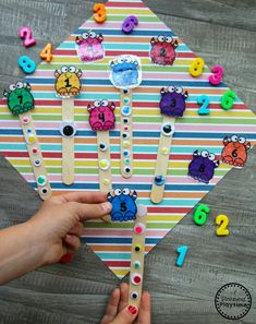 Preschool Monster Theme - Counting Acti for Kids Preschool Themes, Preschool Worksheets, Preschool Activities, Monster Theme Classroom, Classroom Themes, Math For Kids, Fun Math, Play Based Learning, Kids Learning