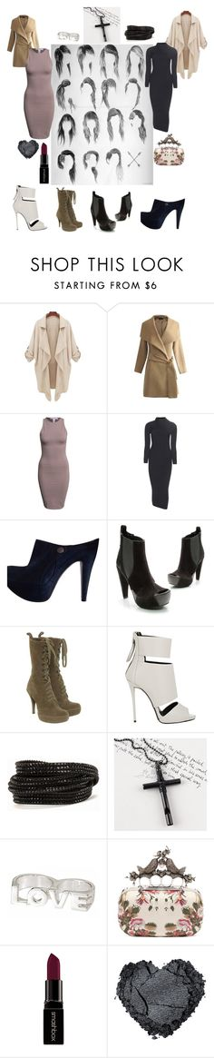 """""""Side Hawk and Heeled Booties... Female Assassin's best friends..."""" by casadeisha ❤ liked on Polyvore featuring NLY Trend, Acne Studios, Vera Wang Lavender Label, Pedro García, Giuseppe Zanotti, Pieces, Trend Cool, Erica Anenberg, Alexander McQueen and Smashbox"""