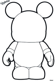 Blank Vinylmation Coloring Page