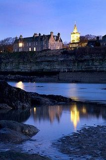 St Salvators College Tower from Doo Craigs St Andrews Fife Scotland