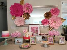 8 flores gigantes de papel pc personalizar sus por ShopOliposa