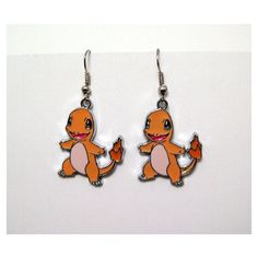 Items similar to Pokemon, earrings, Charmander, anime, cartoon,... ❤ liked on Polyvore featuring jewelry, earrings, animal jewelry, comic jewelry, animal earrings, cartoon jewelry and comic book