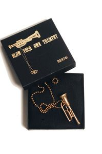 """Love this """"Blow your own Trumpet"""" necklace-and it sounds!"""