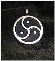 Triskelion BDSM Symbol Stainless Steel Pendant Necklace Fetish