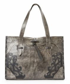Another great find on #zulily! Slate Toggle Vaquetta Leather Tote by Leaders in Leather #zulilyfinds