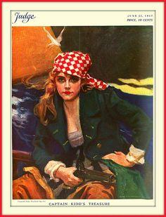June 23, 1917 - ''Captain Kidd's Treasure'' by James Montgomery Flagg | Flickr - Photo Sharing!