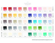 Heirloom Traditions Chalk Type Paint- Pantone Color Card