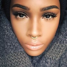 Do you like this fashion statement ? - Check out more septum piercing jewelry for sale at MyBodiArt