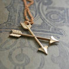 Double Cross Arrow Necklace