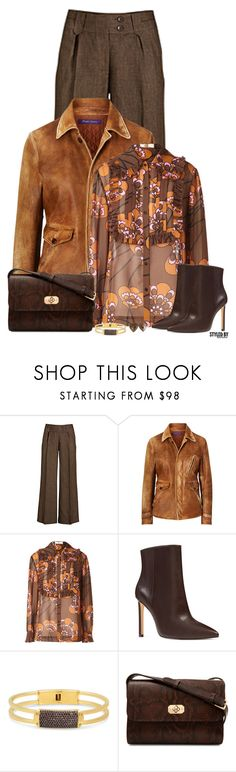 """Fall Fashion"" by marion-fashionista-diva-miller ❤ liked on Polyvore featuring Ralph Lauren, Orla Kiely, Nine West, Henri Bendel, A.P.C., Yves Saint Laurent, fallfashion, fallstyle and fall2017"