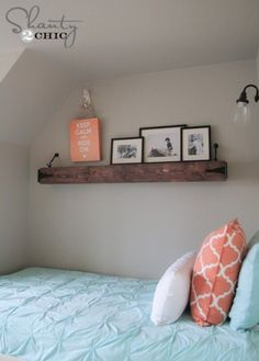 6 Eloquent Cool Ideas: Floating Shelf Entryway Bookshelves small floating shelves for plants.Floating Shelves Diy For Books floating shelf fireplace bedrooms.Floating Shelves With Lights Basements. Floating Mantle, Rustic Floating Shelves, Teenage Girl Bedrooms, Girls Bedroom, Bedroom Decor, Bedroom Furniture, Girl Rooms, Furniture Plans, Wood Furniture
