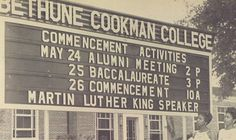 In 1958 Dr. was the commencement speaker at BCC. Fbi Cia, Mary Mcleod Bethune, Baccalaureate, Sorority Life, Alma Mater, King Jr, Martin Luther King, Black History, Did You Know