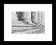 Pillars In A Row Framed Print by Brandon Bourdages.  All framed prints are…