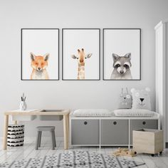 Grey and white bedroom decor playroom. Cube bookshelves for heaps of storage for toys anf kids books.However, there are a lot more boys bedroom ideas to enrich your toddler's room reference Baby Boy Rooms, Baby Bedroom, White Bedroom, Bedroom Decor, Bedroom Ideas, Baby Room Decor For Boys, Cool Kids Rooms, Kids Room Art, Giraffe Nursery