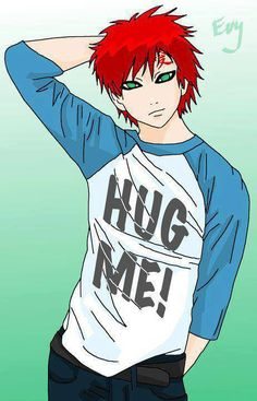 Gaara.  Yes.  So cute!  Check out my Naruto fanfiction story The Man That Disappeared: https://www.fanfiction.net/s/9928492/1/The-Man-That-Disappeared