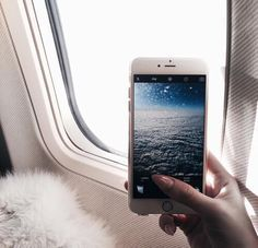 plane / airplane / airport / phone / iphone / luxury / travel / fly / flight / explore / wanderlust / picture / photo / photography / cloud / clouds / window / manicure /dreamy