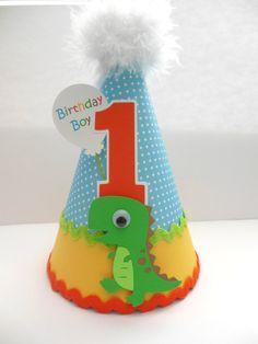 Lil' TRex Dinosaur  Blue Polka Dot Birthday by SandysSpecialtyShop,
