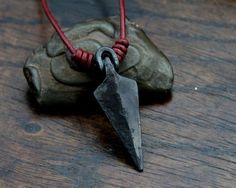 We may have to rethink our position on neck accessories -- Arrowhead Necklace -- a hand forged Viking arrowhead.  More at www.roguerefined.com #men #guys #fashion #mensfashion #style #lifestyle #menstyle #mensstyle #ootd #menswear #classy #fashionblogger #shopping #follow #photooftheday #instagood #necklace