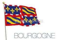 Bandiera regionale di Borgogna, Francia — Vettoriali Stock © frizio #119235634