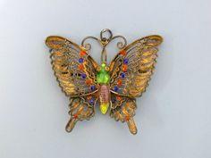 Schmetterling Anhänger / Brosche