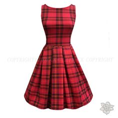 "LaFrock's Red Tartan ""Emma"" Dress"
