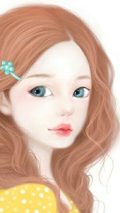 """""""Lovely Girl"""" Art by Korean Artist, Jenae Enakei."""