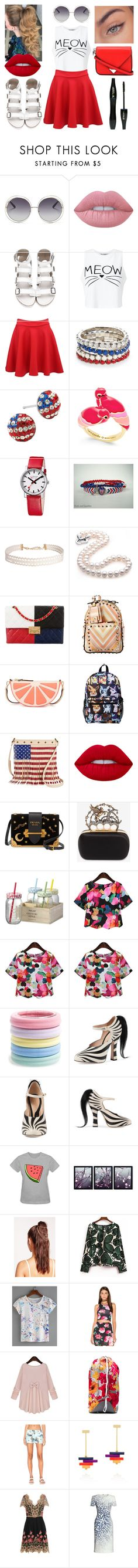 """0298"" by doglover43 ❤ liked on Polyvore featuring Chloé, Lime Crime, Miss Selfridge, Pilot, Red Camel, Silver Treasures, Kate Spade, Mondaine, Humble Chic and Chanel"