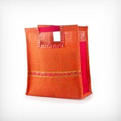 Orange Jute Shopper Return Gift for Flat 50% off - Flat 50% off Return gifts : Tambulya