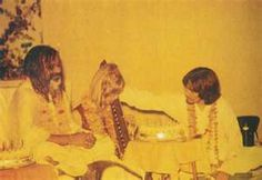"""(image from bing/ info from my fav book The Beatles by Bob Spitz)  Maharishi, pattie and george in india.  DID YOU KNOW: When the beatles decided to learn how to meditate they went to India to learn from the best at the time, Maharishi Mahesh Yogi. This was patti's idea and The Beatles loved it! They definitely enjoyed their stay and even made up the song, """"Dear Prudence"""". Patti had a couple of friends that joined their stay and one of them had the name Prudence. She meditated too heavily…"""